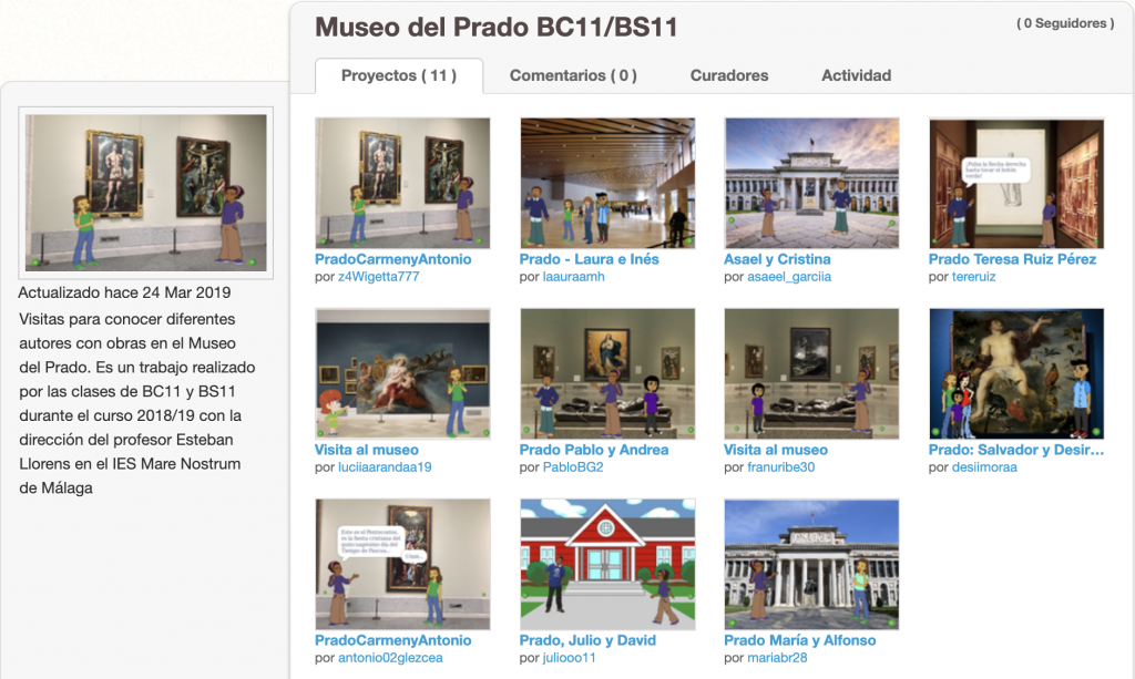 Scratch imagen de proyecto sobre el Museo del Prado